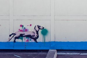 wall dachshund by Monkill