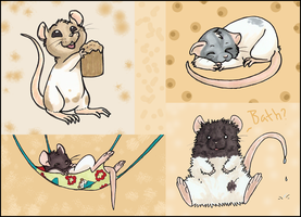 Ratty Rats by ClownCarOnFire