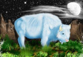 White Buffalo by The-Fattness