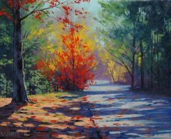 Blue Mountains Autumn by artsaus