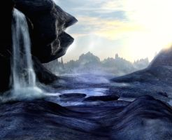 Waterfall background by indigodeep
