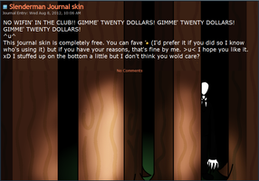 Slenderman Journal skin by Teevz