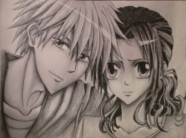 Usui and Misaki (shaded) by Uzumaki18