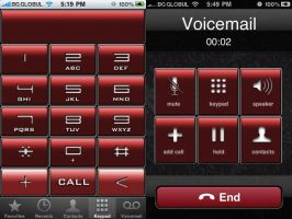 SURR3A1 metal red dialler iOS4 by surr3a1