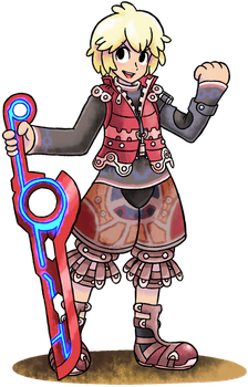 ''Mario+Luigi'' RPG Style: Shulk by Master-Rainbow