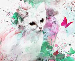 Sand Cat Watercolor by AVAdesign