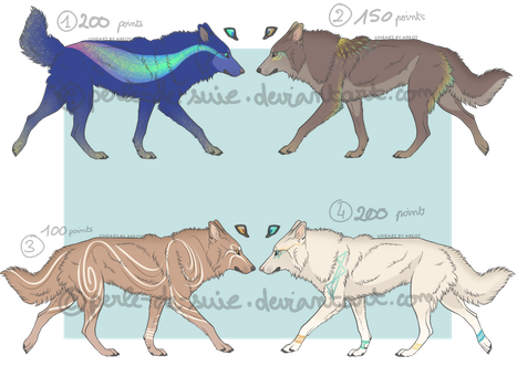 Canine Adoptables #1 -50% [2/4 OPEN] [flat prices] by Perle-de-Suie