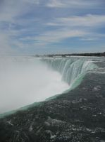 Niagara Horseshoe falls up close by dragondoodle