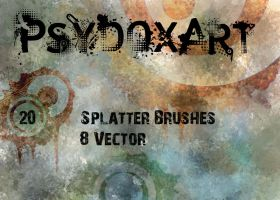 SplatterBrushSet  - Vol 1 - by PsyDoxArt