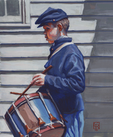 Civil-War-Drummer-Boy-Gouache by grobles63