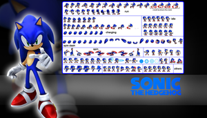 the cool sonic sprites by FirethehedgehogZX