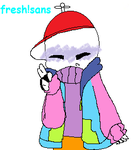 chibi fresh!sans by TheArtistFamily