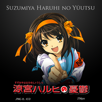 Suzumiya Haruhi no Yuuutsu - Anime Icon by duckne55