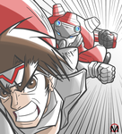 Jin Saotome and Blodia by Mike-Oliveras
