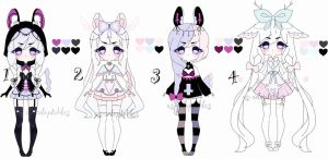 Pastel adoptable girls batch CLOSED by AS-Adoptables
