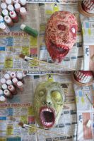Zombie Heads by InsomniousMachinist