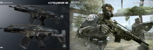 Crysis 2 Mk20 SCAR with Desert Skin by Scarlighter