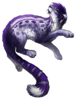 Purple kitty. by Safiru