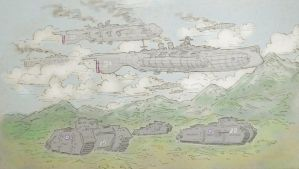 Aerodreadnoughts and Armor by ColorCopyCenter