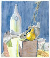 Water Color Still life by CelesOran