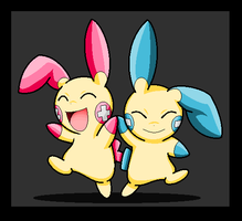Are Best Friends-Minun-Plusle by lossetta932