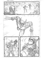 Marvel Avengers page 2 pencils by JoeyVazquez
