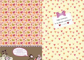 1st Anni Card for SweetHeart F by phyoeminthaw