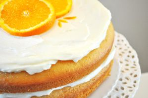 Orange Cream Cake II by TantalizedBaker