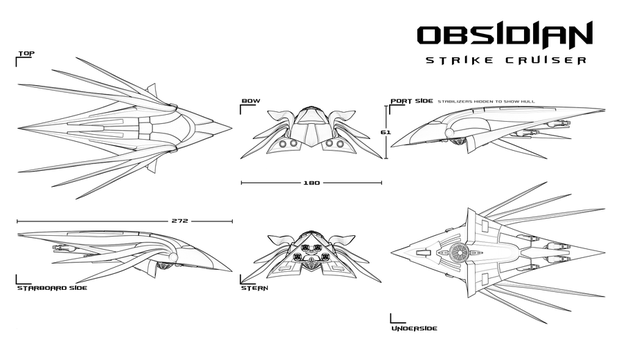 Obsidian Strike Cruiser by EbonNebula
