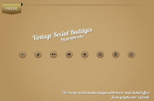 70 Vintage Social Badges by graphcoder