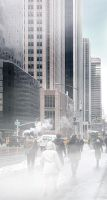 Fog on the 8th Avenue - New York by Marcusion