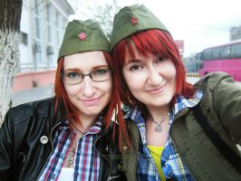 Redhead sisters by Lucithea