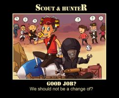 TF2  scout  hunter by biggreenpepper