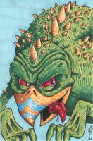 BIG monster sketchcard by ATLbladerunner