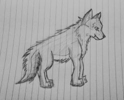 Wolfen Sketch by cookiefur