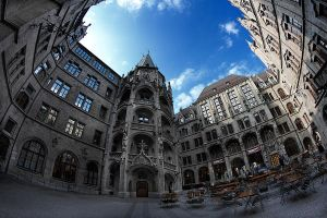 Munich Townhall, Patio by JoGraetz