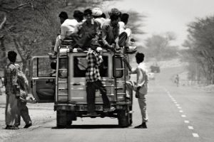 On the Roads of India V by miclart