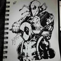 Deadpool vs Deathstroke by SafeerRAZA123