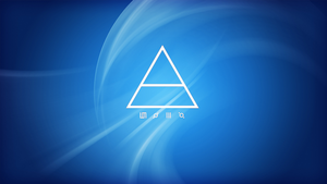 30 Seconds to Mars triad background (Blue) by FastSniperfox
