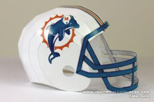 Dolphins NFL Helmet Papercraft by Dil1880