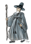 Gandalf the Grey by tomato-bird