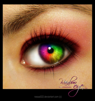 Rainbow eye by nessa022