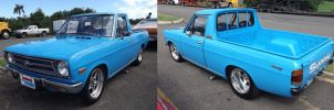 70' Nissan Sunny Ute, one year later by Mister-Lou