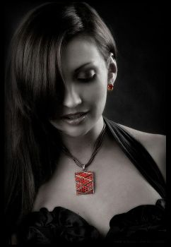 red necklace by PB-HASS