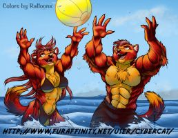 Colors by Ralloonx Redmight weasles in water by lady-cybercat
