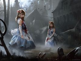 Magic: The Gathering Twins of Maurer Estate by daRoz