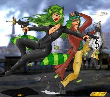 Bloody And Milly In The Heist by Mawnbak