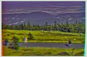 Hikers on Mount Brocken ::: DRi Anaglyph 3D by zour