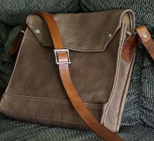Leather Indy Jones-style bag by psychicsandswords
