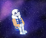 outer sans (outertale) by Akecai